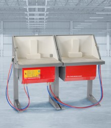 DS400D Double Brazing Hearth