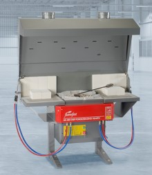 DS430D Combined Chip Forge and Double Brazing Hearth